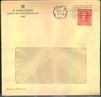 1917, Gebrauchte Privatganzsche 15 Heller Franz Josef - Kohlen- Und Koksgrosshandlung Sadleder, Linz - Entiers Postaux
