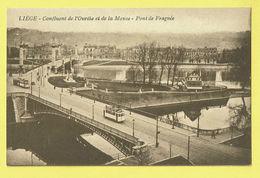 * Liège - Luik (La Wallonie) * Confluent De L'Ourthe Et De La Meuse, Pont De Fragnée, Tram, Vicinal, Rare - Luik