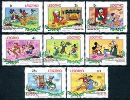 Lesotho 1983 Christmas - Walt Disney 'Old Christmas' Set Used (SG 554-561) - Lesotho (1966-...)