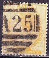 MALTA 1863 Queen Victoria ½ P Yellow WM CC Perforation 14 Mi. 2 B - Malta