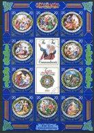 Lesotho 1984 Easter - The Ten Commandments Sheetlet Used (SG 579-588) - Lesotho (1966-...)