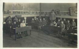DOWN COUNCIL SCHOOL - 2 REAL PHOTO VINTAGE POSTCARDS #90202 - Other