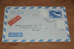 28-     AEROGRAMME FROM TEL AVIV TO AMSTERDAM - 1963 - Zonder Classificatie