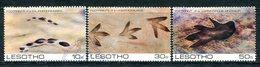 Lesotho 1984 Prehistoric Footprints Set Used (SG 596-598) - Lesotho (1966-...)