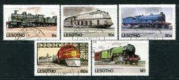 Lesotho 1984 Railways Of The World Set Used (SG 605-609) - Lesotho (1966-...)