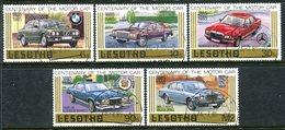 Lesotho 1985 Century Of Motoring Set Used (SG 640-644) - Lesotho (1966-...)