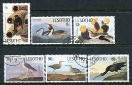 Lesotho 1985 Birth Bicentenary Of John J. Audubon Set Used (SG 646-651) - Lesotho (1966-...)