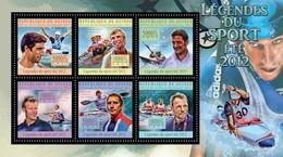GUINEA 2012 SHEET SPORTS LEGENDS SUMMER OLYMPIC GAMES LEGENDES DU SPORT DE ETE JEUX OLYMPIQUES SPORTS Gu12709a - Guinée (1958-...)