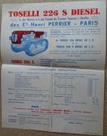 Pub Ancienne - Tracteur Toselli 226 S Diesel - Tracteur Vignerons - Henri Perrier Paris - Publicités