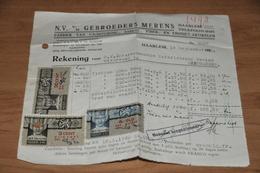 24-     REKENING, N.V. V/h GEBROEDERS MERENS, HAARLEM -- 1940 - Nederland