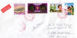 3.10.1985; Lettre Ordinaire Tripoli - Heidelberg, Divers Timbres Selon Scan; Lot 51174 - Libye