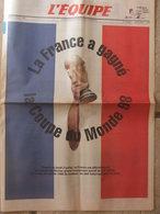 Journal L'Equipe - Hors Série- (2 Juil 1992) La France A Gagné L'organisation De La Coupe Du Monde 98 - 1950 à Nos Jours