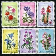 Lesotho 1985 Wild Flowers Set Used (SG 661-666) - Lesotho (1966-...)