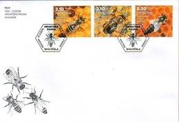 HR 2019-1365-7 Fauna. Carniolan Honey Bees. HRVATSKA CROATIA, FDC - Abeilles