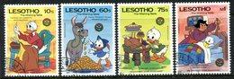 Lesotho 1985 Birth Bicentenaries Of Grimm Brothers - Walt Disney - Set Used (SG 672-675) - Lesotho (1966-...)