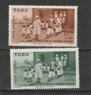 Togo  Neuf *  1942 Poste Aérienne  N° 6/7   Protection De L'enfance Indigène - Togo (1914-1960)