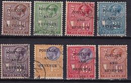 MALTA 1928 King George V Overprinted Postage & Revenue 8 Values From The Set Mi. 133 / 135 - 138 - 139 - 141 - 142 - 150 - Malta