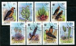 Lesotho 1986 Flora And Fauna Of Lesotho Set Used (SG 677-684) - Lesotho (1966-...)
