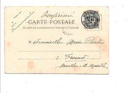 ALGERIE BLANC SUR CARTE DE BOUGIE 1904 - Algérie (1924-1962)