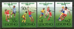 Lesotho 1986 Football World Cup, Mexico Set Used (SG 686-689) - Lesotho (1966-...)
