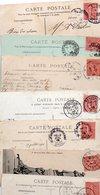 FRANCE...TIMBRE TYPE SEMEUSE LIGNEE....10c.....LOT DE 150 SUR  CPA.....VOIR SCAN......LOT 20 - 1903-60 Semeuse Lignée