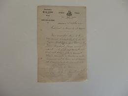 Lettre De La Mairie De Saint-Paul-le-Froid (Lozère). Certificat De Bonne Vie Et Moeurs De Laurent Jean-Baptiste. - France