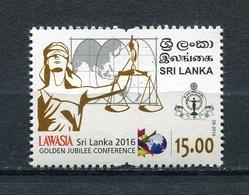 SRI LANKA 2016 LAWASIA GOLDEN JUBILEE CONFERENCE MNH - Sri Lanka (Ceylon) (1948-...)