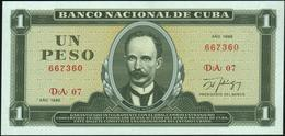 CUBA - 1 Peso 1986 UNC P.102 C - Cuba