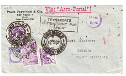 "Brazil VIA ""AERO-POSTAL"" AIRMAIL COVER 1934 - Airmail (Private Companies)"