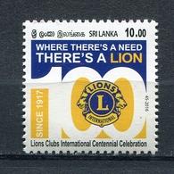SRI LANKA 2016 100th Anniversary Of Lions Clubs International MNH - Sri Lanka (Ceylon) (1948-...)