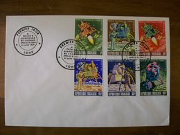 TOGO N 606 A 609 +pa N 109 Et 110 Sur Enveloppe 1 Er Jour 1969 Alunissage - Togo (1960-...)
