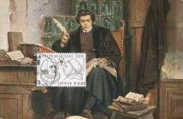 44045 Latvia Lettonia, Maximum 2019,martin Luther Reformation,   Vintage Card - Christentum