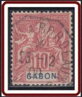 Gabon 1886-1907 - Maritime De Matadi à Bordeaux Sur N° 20 (YT) N° 20 (AM). Oblitération De 1909. - Gabon (1886-1936)