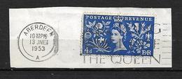 Grande Bretagne  1953  N° 280  +  Flamme Sur Fragment - Used Stamps