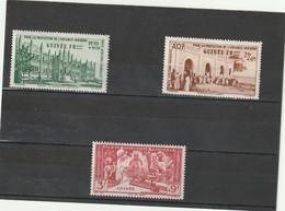 Guinée Française  Neuf *  1942  Poste Aérienne N° 6/8   Protection De L'enfance Indigène - Guinée Française (1892-1944)