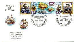 Wallis & Futuna - FDC Yvert 575 à 577 - Découverte Iles Horn - R 5604 - FDC