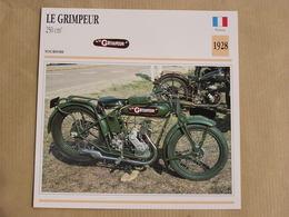 LE GRIMPEUR 250 Cm3 France 1928 Moto Fiche Descriptive Motocyclette Motos Motorcycle Moto Motocyclette - Fiches Illustrées