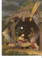 Old Musical 45rpm Record Postcard Schallbildkarte Stille Nacht Christmas Symphonieorchester Mit Orgel Und Glocken - Unclassified
