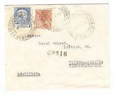 Brazil COVER Pernambuco Lostice Czechoslovakia REGISTERED 1939 - Brazil