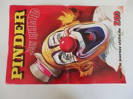 """Affiche 49cm/33cm Sur Le Cirque Pinder """"Toute La Journée Visite Du Zoo"""". - Libri, Riviste, Fumetti"""