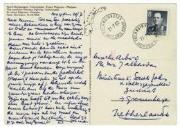 Ref 1281 - 1962 Postcard - Polarsirkelen / Arctic Circle Norway Postmark To Netherlands - Norvège