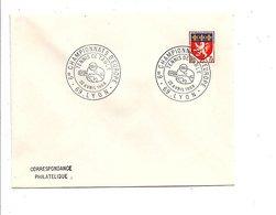 OBLITERATION 6 EME CHAMPIONNAT D'EUROPE DE TENNIS DE TABLE à LYON 1968 - Cachets Commémoratifs