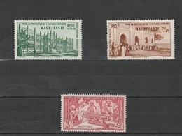 Mauritanie  Neuf *  1942  Poste Aérienne   N° 6/8    Protection De L'enfance Indigène - Mauritanie (1906-1944)