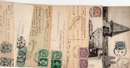 FRANCE..TIMBRE TYPE BLANC.... ...LOT DE 48 SUR  CPA.....VOIR SCAN......LOT 28 - 1900-29 Blanc