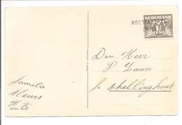 Naamstempel HOOGKARSPEL (N.H) Nieuwjaar-Lebeau - Periode 1891-1948 (Wilhelmina)