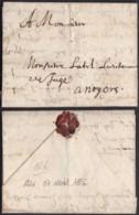 France 1656 - Lettre Avec Courrier Particulaire 07/04/1656 D'aix Pour Noyers (7G34626) DC2619 - Postmark Collection (Covers)