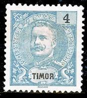 !■■■■■ds■■ Timor 1898 AF#63(*) King Carlos Mouchon 4 Avos (x3502) - Timor