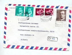 Lettre Recommandee Tenerife Sur Roi - Marcophilie - EMA (Empreintes Machines)