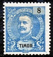 !■■■■■ds■■ Timor 1898 AF#64(*) King Carlos Mouchon 8 Avos (x3503) - Timor