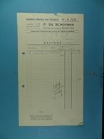 Fournitures Générales Pour L'Electicité P. Dr Schouwer Bruxelles /54/ - Électricité & Gaz